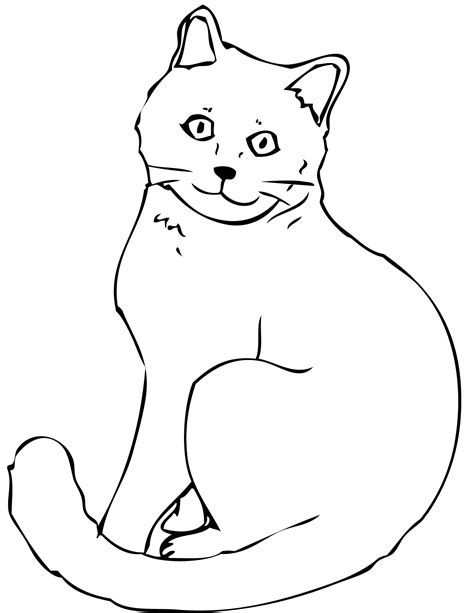Picture Of A Cat To Color by Coloring Cat Coloring Pages