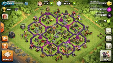 Clash of clans interesting layouts 9game clash of clans