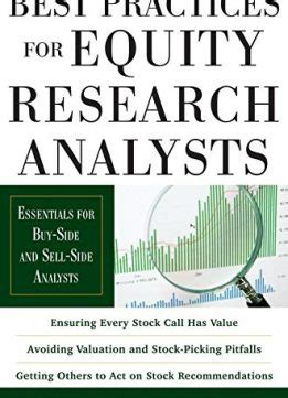 Mba Internship Buy Side Equity Analyst by Best Practices For Equity Research Analysts