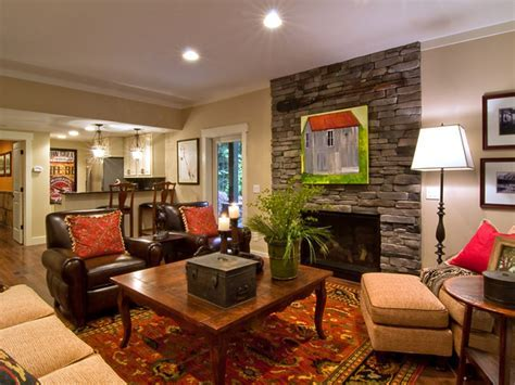 Basement Living Room From Blog Cabin 2009   DIY Network