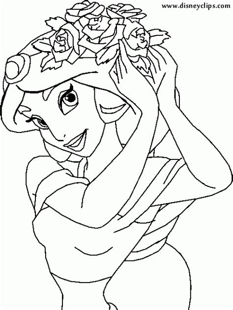 disney aladdin jasmine coloring pages life seasons