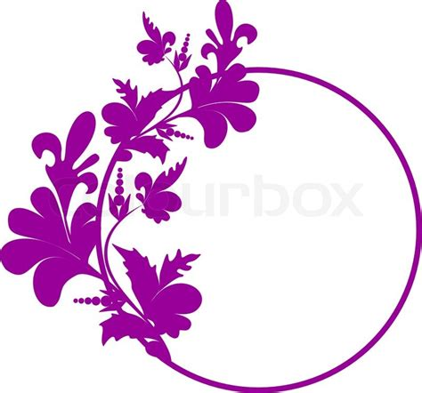 Butterfly Decorations For Home round frame with decorative branch vector illustration