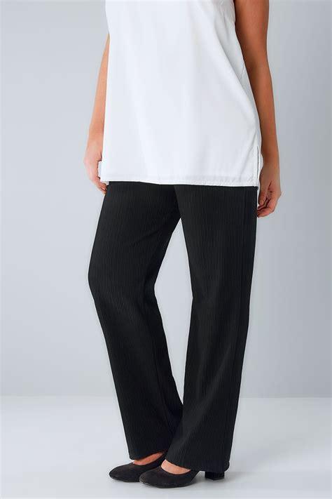 Nella 3 Rami Woven All Size Fit L Celana Panjang Wanita Muslim czarne pr艱蠑kowane lekko rozszerzane spodnie ze stretchu