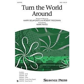 terning around the world by bike books shawnee press turn the world around sab arranged by