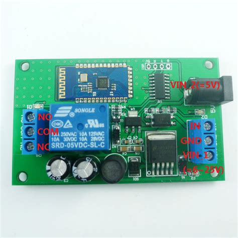 android module dc 5v 6v 9v 12v 15v 24v bluetooth relay module android app mobile phone remote in