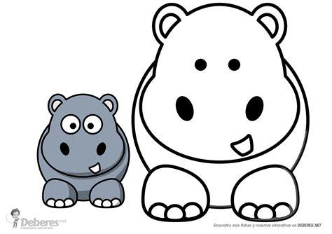 imagenes para colorear hipopotamo dibujo de hipopotamo para colorear