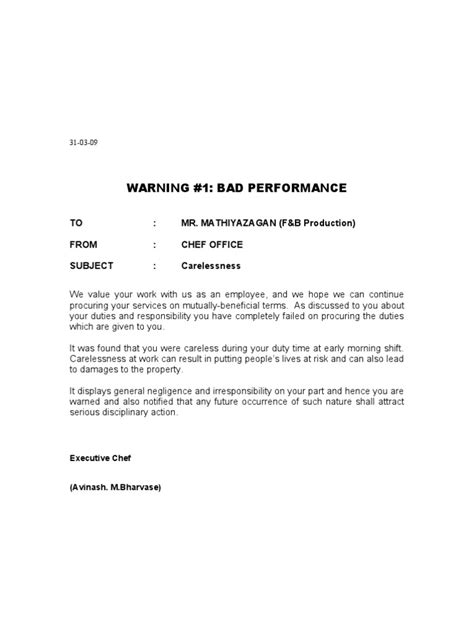 Explanation Letter Sleeping While On Duty Warning Letter For Sleeping