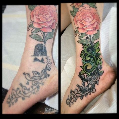 ankle cover up tattoos best 25 ankle foot ideas on