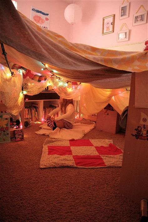 kids bedroom fort girly den homemade dens pinterest caves kid and