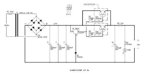 schema alimentatore stabilizzato 12v regolatore di tensione hardware upgrade forum