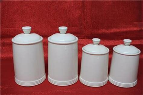 thl kitchen canisters thl ceramic canister set flour coffee tea sugar white
