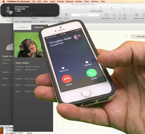 Revised Phone Number Lookup Smart Phone Caller Id Triggers Customer Search In Filemaker Pro Database Homebase