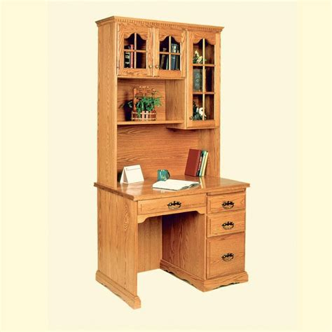 computer desk w hutch 40 quot flat top computer desk w hutch