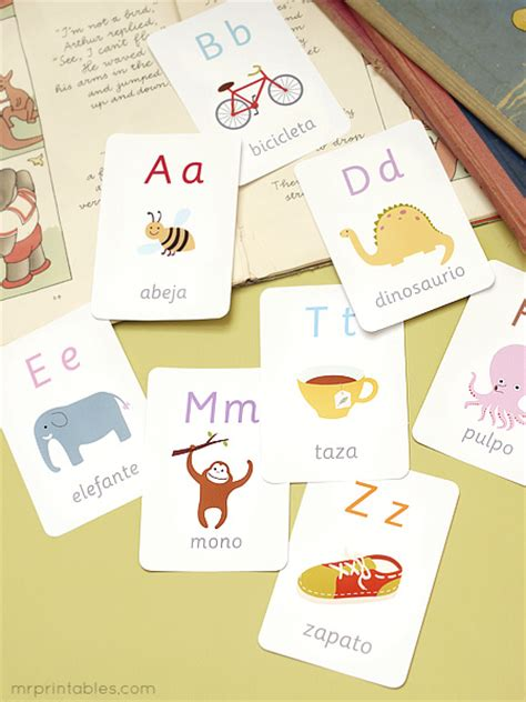 spanish alphabet flashcards printable 9 best images of printable flash cards in spanish free