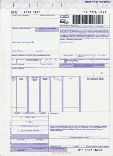air waybill template fedex canada fedex international express freight 174 023