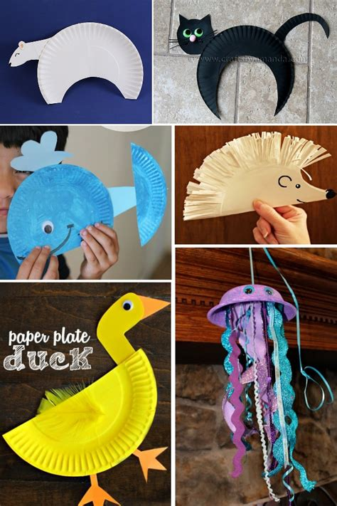 How To Make Sea Animals Out Of Paper - animal paper plate crafts