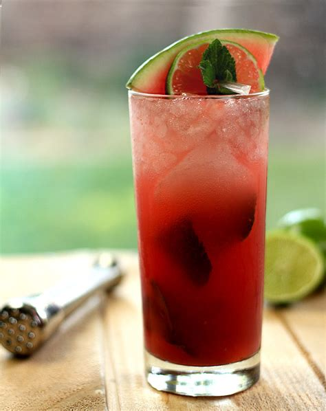 a watermelon mojito and favorites for july 4th creative