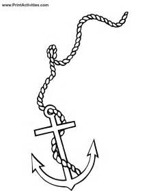anchor coloring page boat coloring page anchor on rope
