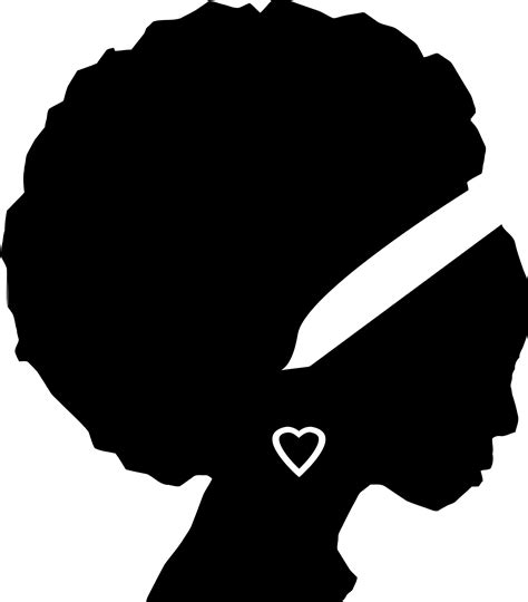 black woman silhouette clipart african american woman silhouette