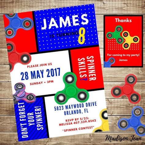 birthday spinner fidget spinner birthday invitation spinner free thank