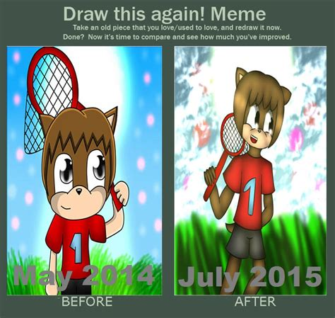 Animal Crossing Villager Meme - draw it again meme male animal crossing villager i by