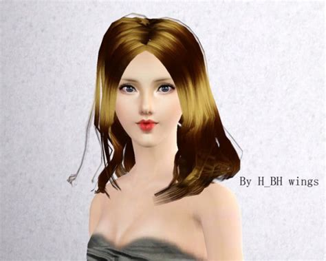 hairstyle with wings layered medium hairstyle by wings sims 3 hairs