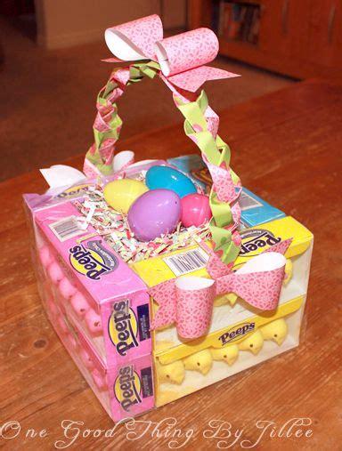 edible easter baskets easy easter craft hip2save 189 best peeps candy filled vases images on pinterest