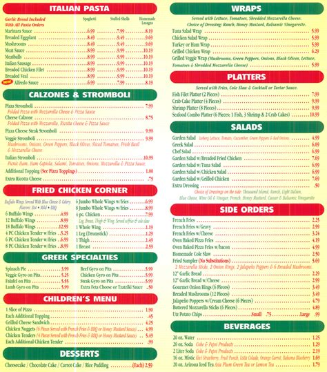 comfort pizza menu pizza menu food and drink in nanopics