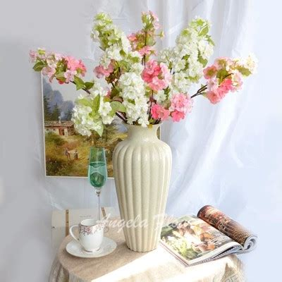 flower decoration for living room new cherry blossom flower decoration wedding hotel living room vase artificial 2 color
