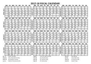 Fiscal Calendar Template by 2017 Fiscal Calendar Template Starts At April Free