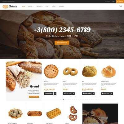 shopify themes bakery shopify themes von templatemonster