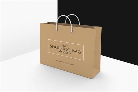 shopping bag psd mockup free template wooskins