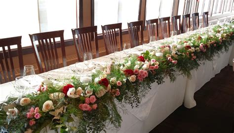 Purple And Yellow Table Decorations Wedding Reception Head Table Flowers Dahlia Floral