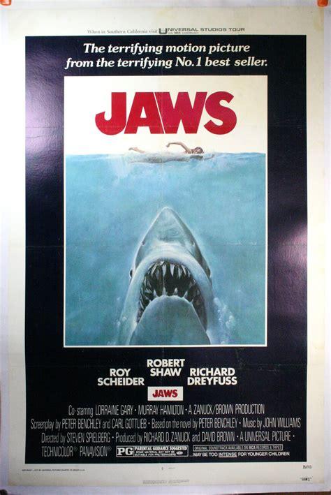 film it original jaws original movie poster linen