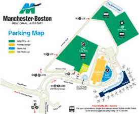 Car Rental Map Boston Logan Airport Parking Overview Manchester Boston Regional Airport