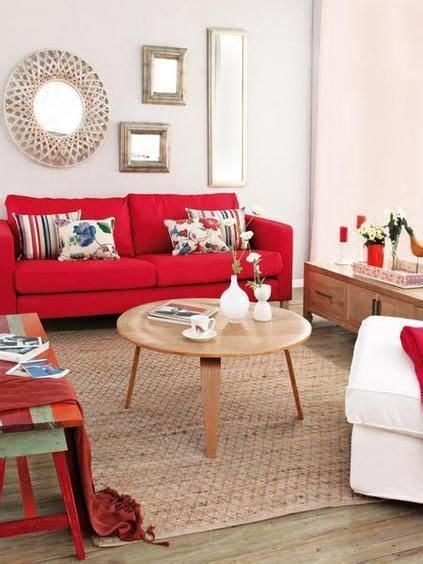 feng shui elemento fuego usando el color rojo en sala de