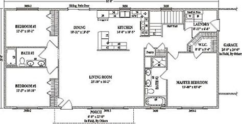 ranch style floor plans open inspirational open floor house plans ranch style new home plans design