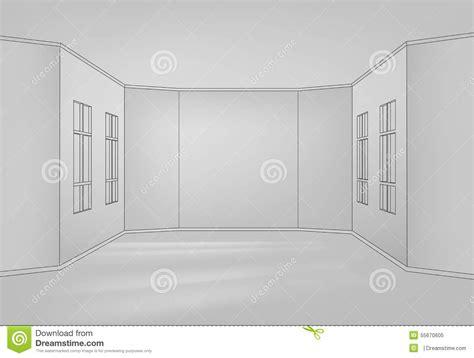 what is empty room in line interior line stock vector image 55670605
