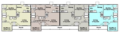 4 plex apartment plans apartment plan j1964 4b 4 plex multi unit plans apartments