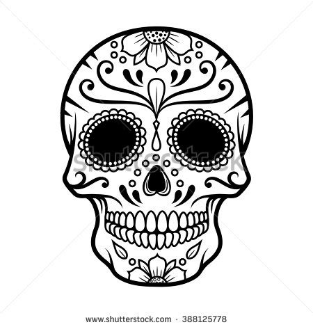 Vector Illustration Skull Day Death Stock Vector 388125778 Day Of The Dead Skull Vector