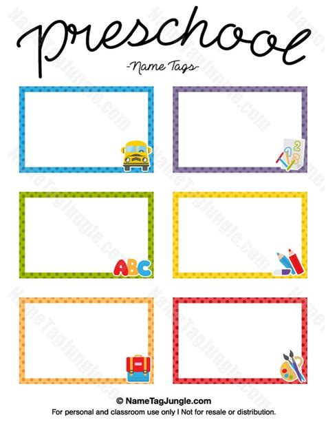 free printable preschool name tags the template can also