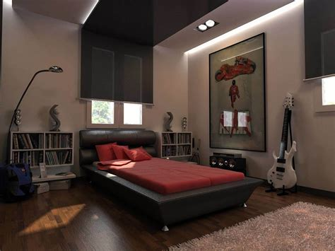 room ideas for guys bedroom design for guys black painted wooden platform bed