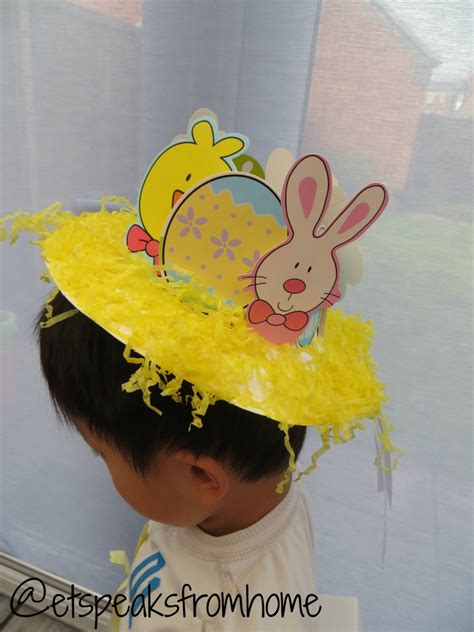How To Make Paper Hats For Adults - how to make an easter bonnet hat using paper plate et