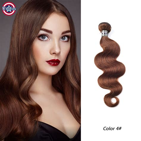 cheveux humains peruvian wave unprocessed unifos peruvian hair wave 1ps chocolate brown