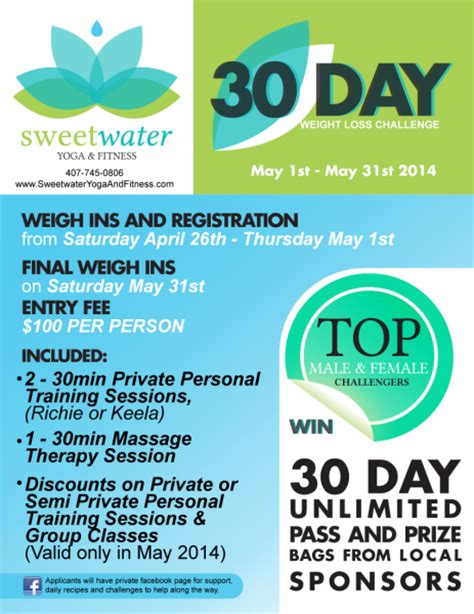 weight loss challenge flyer template 30 day weight loss challenge may 1st may 31st 2014
