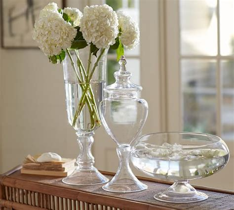 Decorating Ideas For Glass Vases Voluminous Clear Glass Vases Pottery Barn
