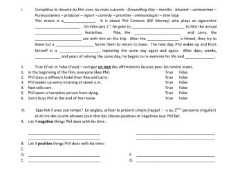 groundhog day viewing worksheet worksheet groundhog day