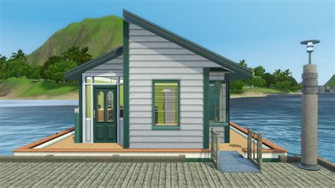 micro home mod the sims micro mini home on the water