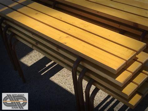 banc en bois occasion lot de 12 bancs en bois 2m occasion vendu