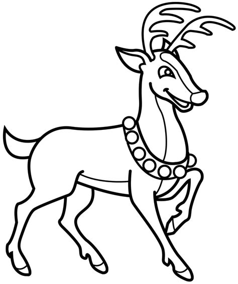 reindeer color page az coloring pages